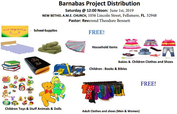 Barnabas Fellsmere Flyer for June 1, 20-19