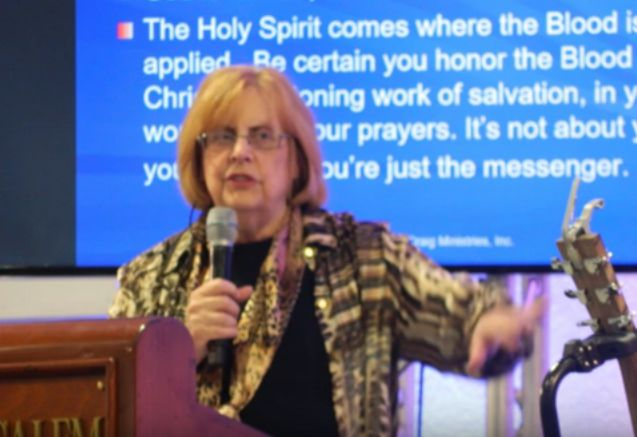 Mary Craig speaking on the Holy Spirit in Jerusalem